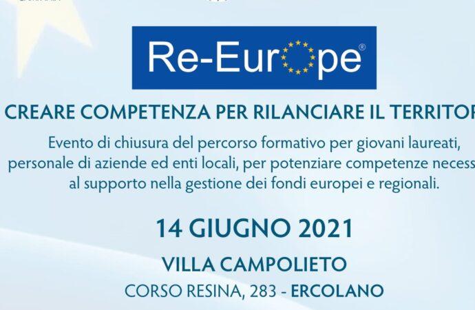 Re-Europa, lunedì il finale: </br>i giovani al servizio della programmazione europea
