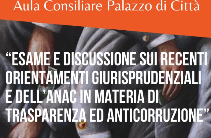 Trasparenza nei Comuni e anticorruzione: formazione il 15 ottobre a Giugliano